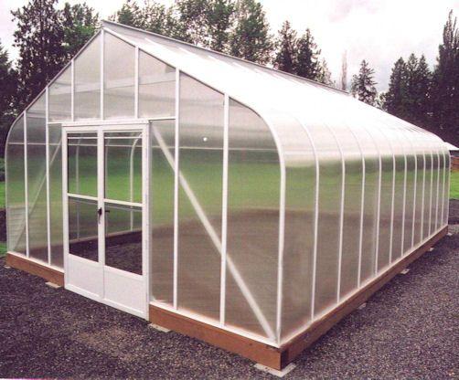 Evangeline Curved Eave Polycarbonate Greenhouses