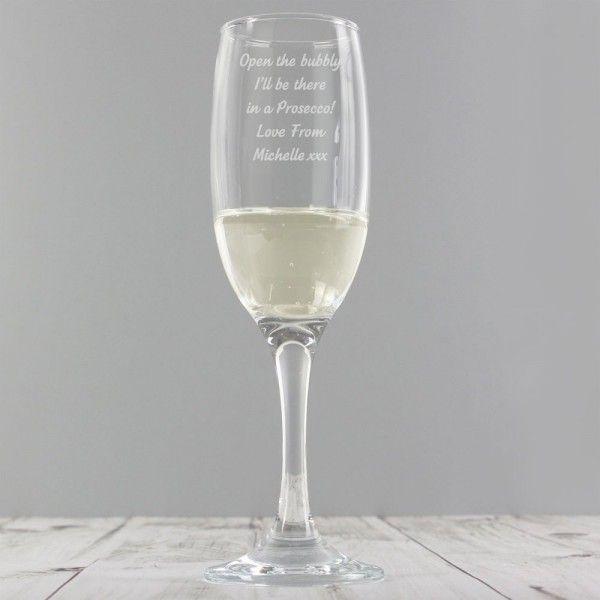 Personalised Prosecco Flute Glass