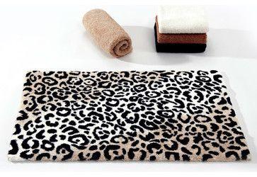 Habidecor Leopard Bath Rug contemporary bath mats