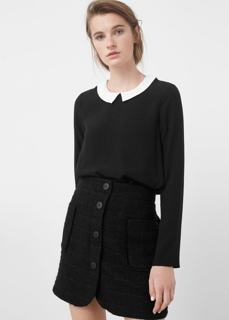 Tweed skirt -  Woman | MANGO USA