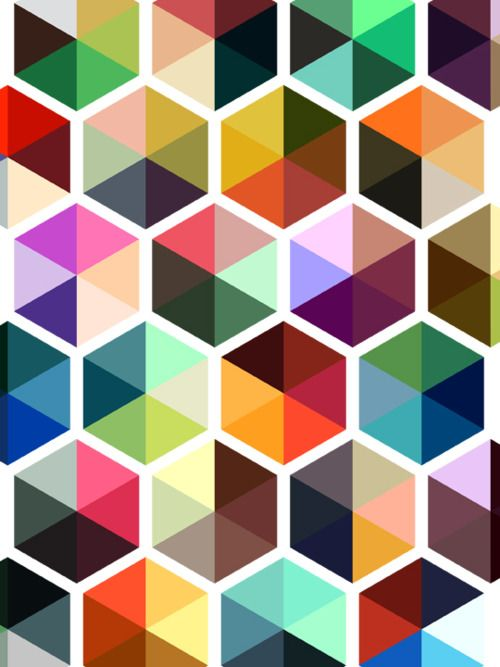 Hexagons are always good. Hexagons disguised as Trivial Pursuit Pies are pure genius.: Geometric Patterns, Colors Combos, Wallpapers Patterns, Pinwheels, Colors Wheels, Colors Palettes, Graphics Design, Colors Schemes, Hexagons