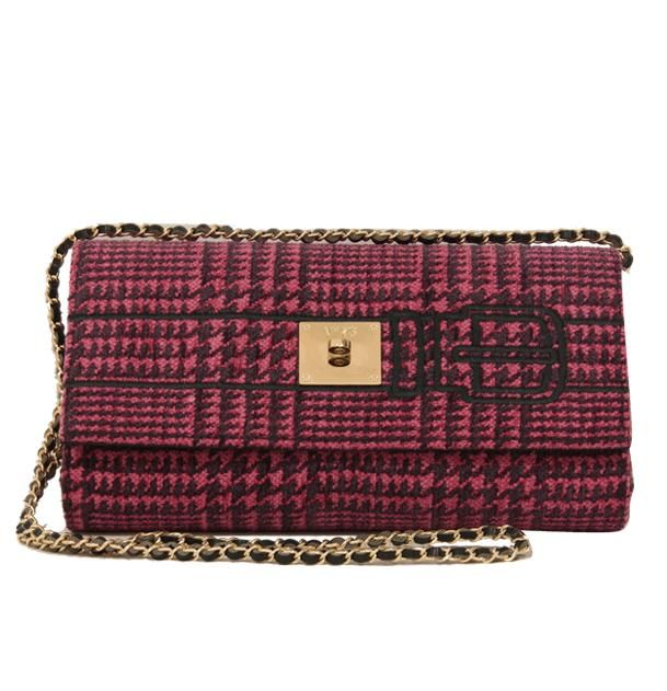 V73 Tweed Clutch Fuxia/Violet http://www.v73.us/textile-bags/tweed-02/125-tweed-clutch-fuxia-violet #v73 #clutch #fuxia #violet #fashion