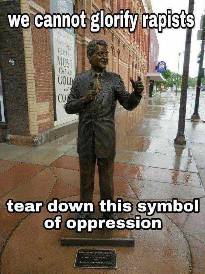 I'm just saying, if you want to remove statues of offensive historical figures, you need look no further than him.