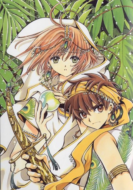 "Sakrua and Syaoran from ""Tsubasa Reservoir Chronicle"" by CLAMP"