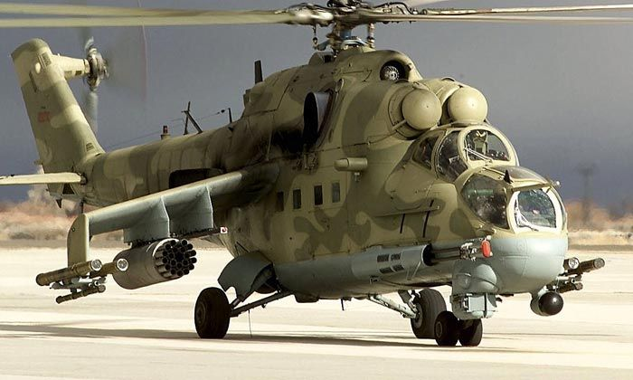 RUSSIAN MI-24P GUNSHIP-WICKED VULNERABLE TO STINGER SHOULDER-FIRED ANTI-AIRCRAFT MISSILES