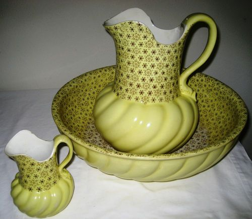 Very RARE Antique Minton Wash Basin and Two Pitchers Marked | eBay