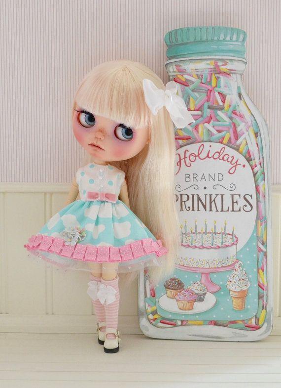 Blythe Dress Sprinkles Inspired Dress for by SweetPetiteShoppe