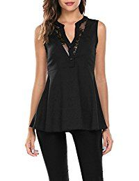 New ThinIce Women Sexy Lace Peplum Top V Neck Sleeveless Slim Fit Chiffon Blouse Clubwear online. Find the perfect Eddie Bauer Tops-Tees from top store. Sku LFRT24396ECDE15334