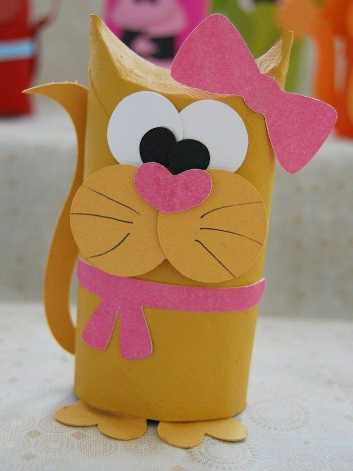 recycler le rouleau de papier toilette, faire un animal original