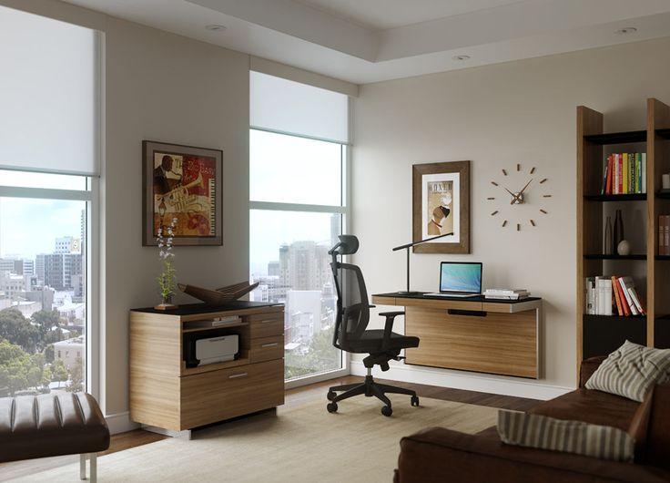Una scrivania per chi ha poco spazio e deve attrezzare una postazione di lavoro.
