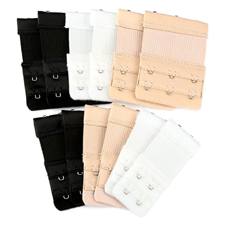12 Bra Strap Extenders 2 And 3 Hooks Extension Ladies Underwear Strapless Set