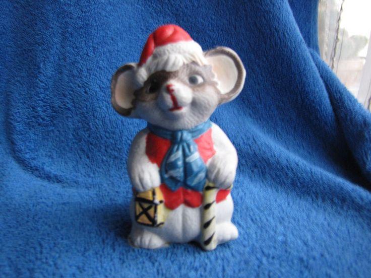 Vintage Sweden Christmas figurine mouse gift Santa God Jul svenska falbygden