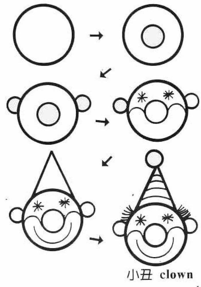 Рисунки из кругов и окружностей