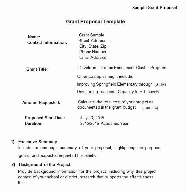 Proposal For Funding Template In 2020 Grant Proposal Proposal