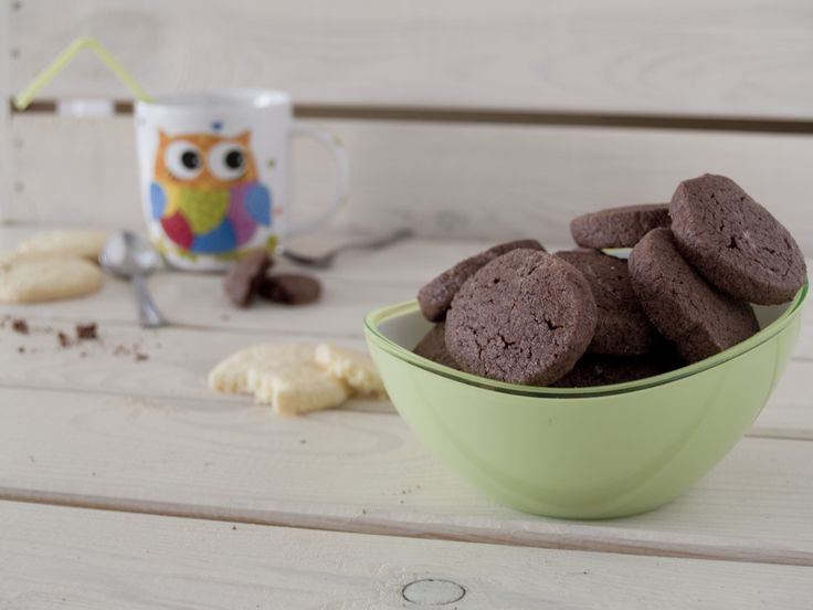 Galletas tipo rulo de chocolate sin gluten