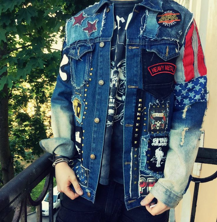 Gund & Roses heavy metal distressed denim punk jacket Buy it at WWW.NCBASTARDS.COM