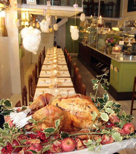 Thanksgiving dinner in California Bakery