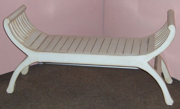Bench White Wash 125 x 66 x 40 F1514 R