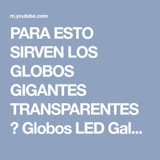 PARA ESTO SIRVEN LOS GLOBOS GIGANTES TRANSPARENTES ✨ Globos LED Galaxia ✎ Craftingeek - YouTube