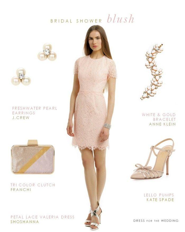 Blush Lace Dress Bridal Shower Dress via @Dress for the Wedding