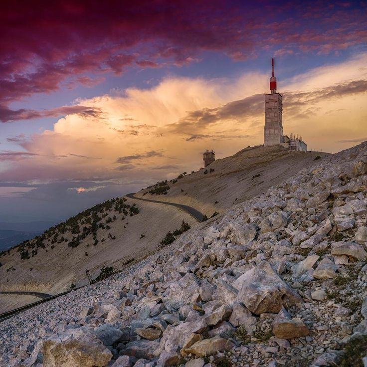 "Hi everyone  Mont Ventoux is a mountain in the Provence region of southern France. At 1912 m, it is the highest mountain in the region and has been nicknamed the ""Beast of Provence"", the ""Giant of Provence"". It has gained fame through its inclusion in the Tour de France cycling race.  As the name might suggest (venteux means windy in French), it can get windy at the summit, especially with the mistral, wind speeds as high as 320 km/h (200 mph) have been recorded.  The wind blows at 90+..."