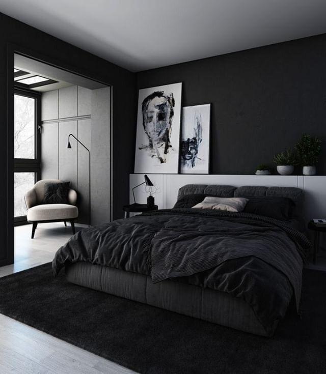 22 Beautiful Black Bedroom Design Ideas You Will Fall In Love With In 2020 Black Bedroom Decor Black Bedroom Furniture Decor Black Bedroom Design