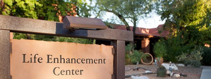 life enhancement center sign at canyon ranch wellness resort tucson az
