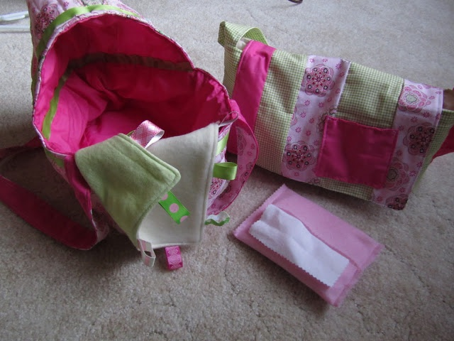 Twelve Crafts Till Christmas: pretend and play diaper bag accessories