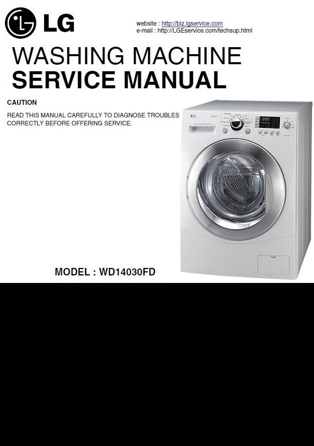 LG WD14030FD Washer/Dryer Combo original service and repair