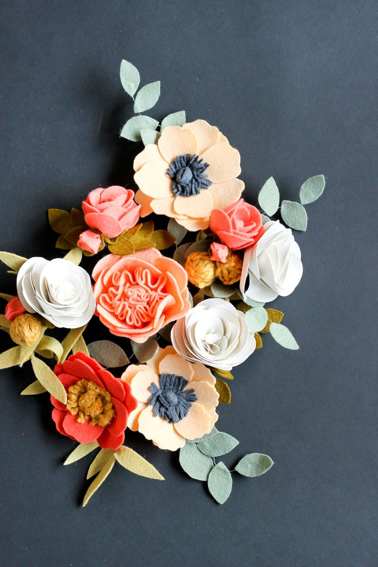 diy Felt Flowers for Crown & Clips | from Delia Creates