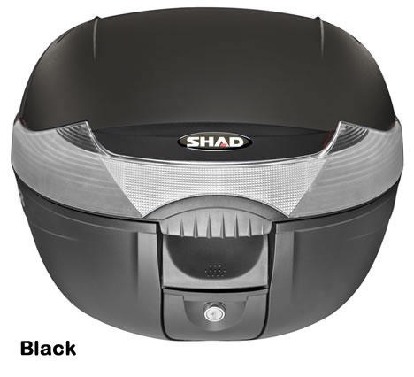 """Shad SH-33 motorcycle top case in black. Designed to attach to most flat luggage racks. Its dimensions are: 16.5"""" L x 16.9"""" W x 12.2"""" H  and has a 33 liter capacity. Your price is $103.95. With Free Shipping."""