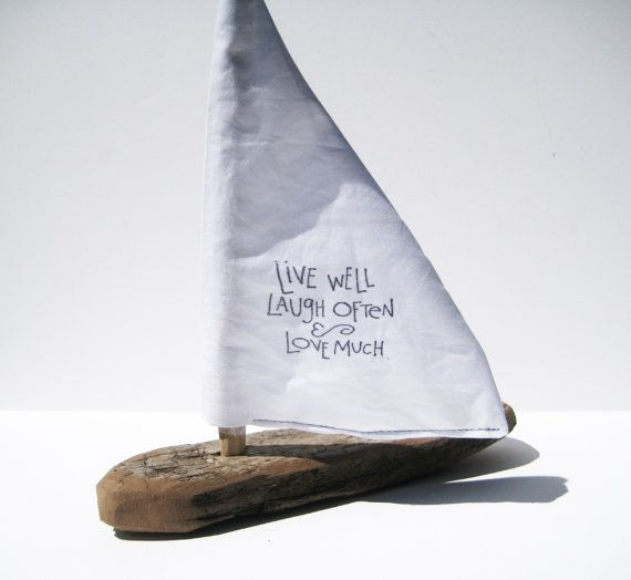 Wooden Sailboat Driftwood Art Kids Craft Kit Driftwood Boat Nautical Goody Bag Boat Building Wooden Toy Boat Wood Boat Birthday Party Favor