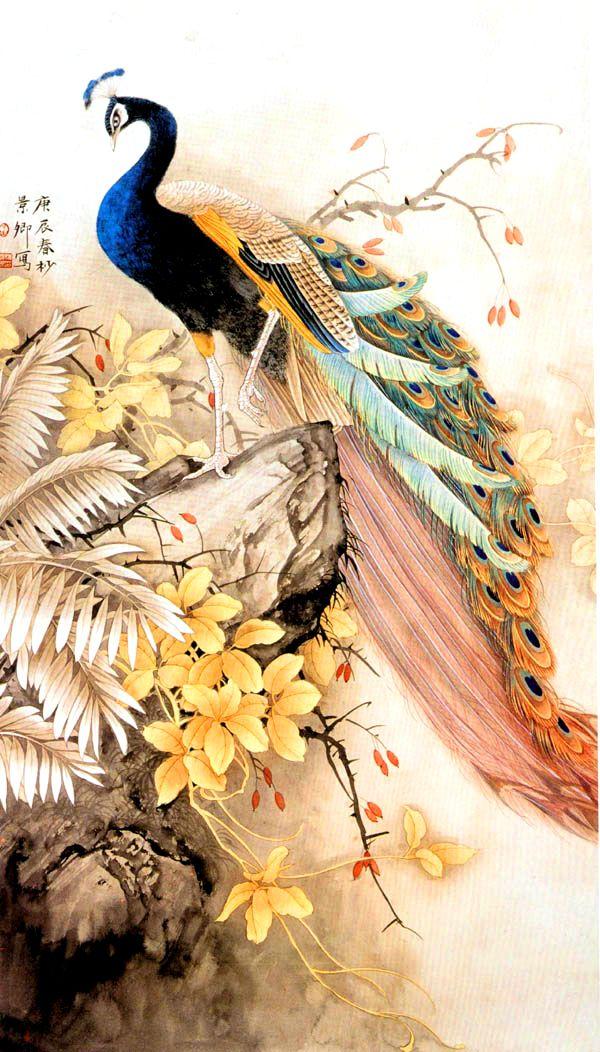 Павлины в творчестве японских художников.. Обсуждение на LiveInternet - Российский Сервис Онлайн-Дневников