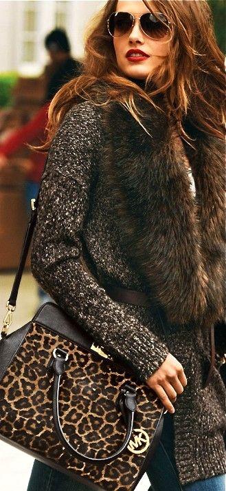Michael Kors leopard print bag