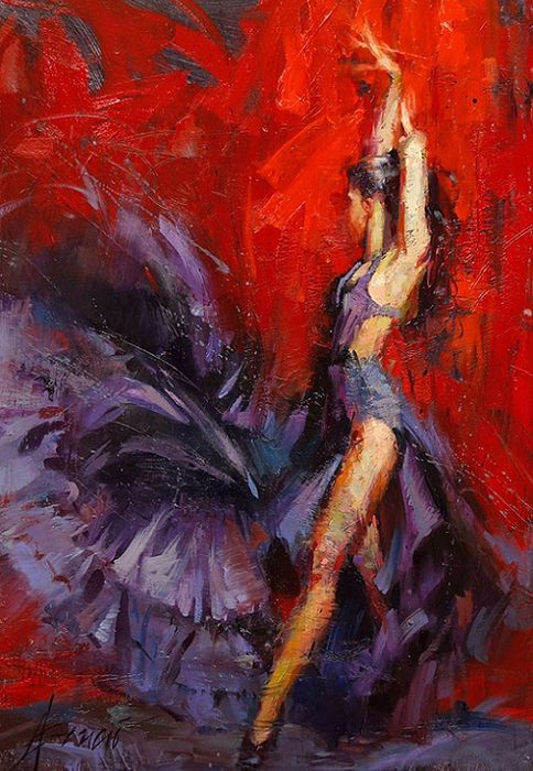 HENRY ASENCIO's artwork combines figurative drama with spontaneous abstract backgrounds. His signature use of color, form, and texture reveals a contemporary dialogue between the material and the spiritual. With extreme texture and intentional use of color, he sets the mood and creates heart-felt emotion.