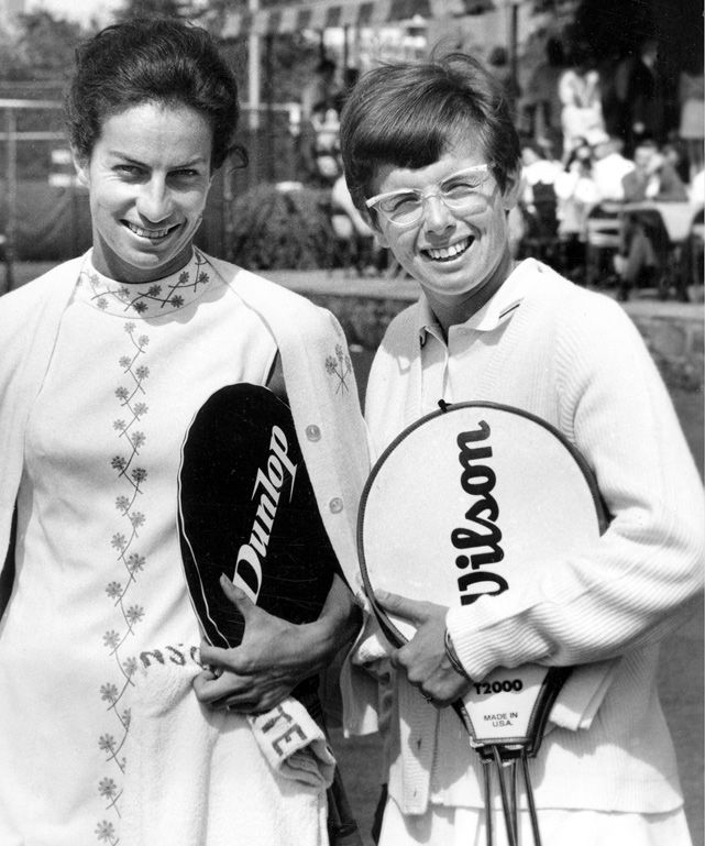 Virginia Wade (GBR) & Billie Jean King (USA) - 1968 US Open Women's Singles Final