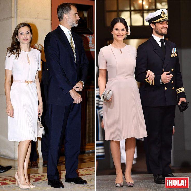 Dos 'royals' y un mismo vestido: la reina Letizia estrena un diseño de Hugo Boss que ya lució la princesa Sofía de Suecia en abril del pasado año. #royals #vestido #look #reina #reinaletizia #princesa #hugoboss