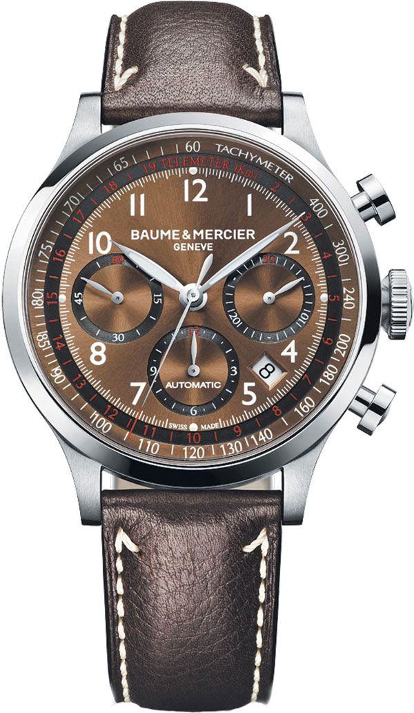 Baume & Mercier Capeland: Swiss Watches, Mercier Capeland, Automat Chronograph, Luxury Watches, Wrist Watches, Men'S Watches, Baume Mercier, Chronograph Watches, Capeland 10083