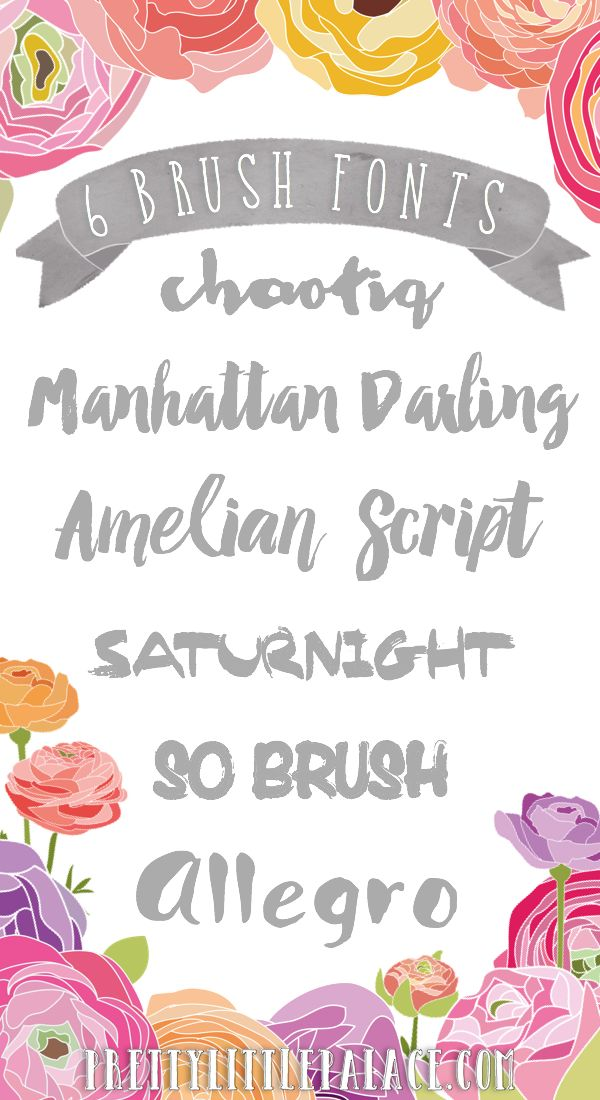 Pretty Little Palace: 19 Must-Have Fonts