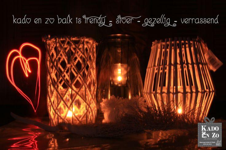 Sfeer lantaarns bij Kado en Zo Balk