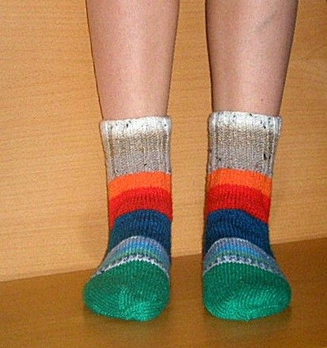 SALEhand knitted colorfull socks 665 / 3940 by livucis21 on Etsy, $12.99