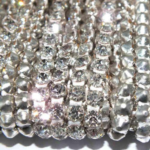 RHINESTONE CHAIN | 1 m Strassband SS18 Crystal/Kristallklar einreihig *sk2400