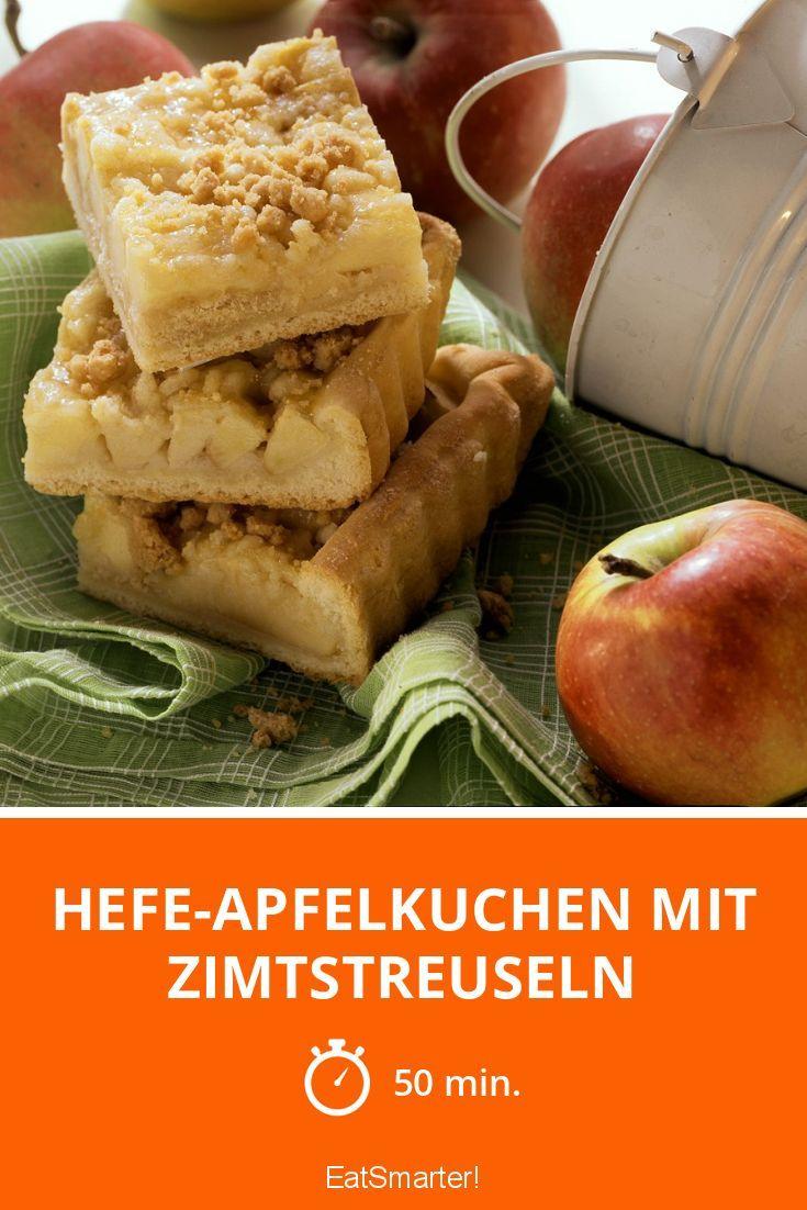 Hefe-Apfelkuchen mit Zimtstreuseln - smarter - Zeit: 50 Min. | eatsmarter.de
