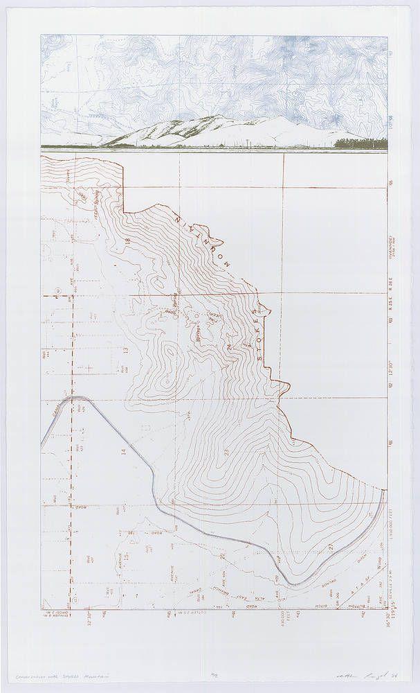 Conversation with Stokes Mountain. Screen print