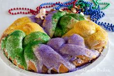 """Barbara Bakes Brioche   (Mardi Gras King Cake tradition)  One to find """"the baby"""" brings the cake to the next party!"""