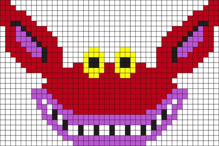 Ickis Ahh Real Monsters Perler Perler Bead Pattern / Bead Sprite
