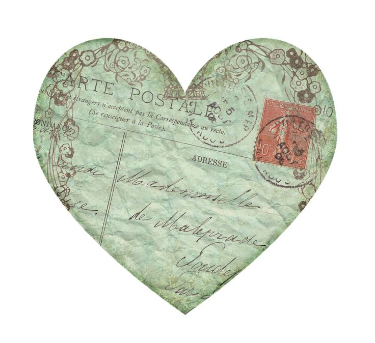 Vintage Postcard Heart ~ Sisters' Warehouse