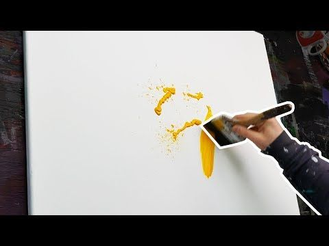 How to paint an Acrylic Abstract Painting | Speedart Demonstration | Galactica - YouTube
