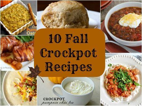 10 Fall Crockpot Recipes - I love the variety