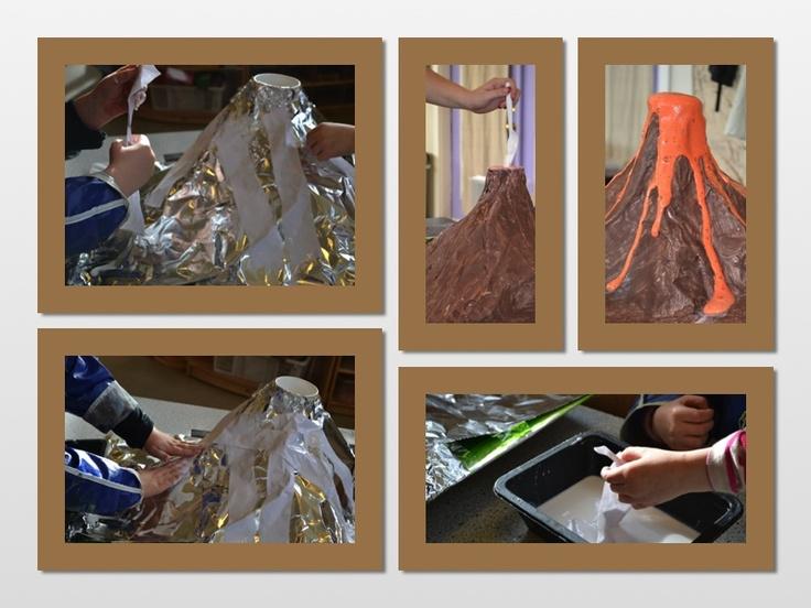 paper mache volcano (class project)